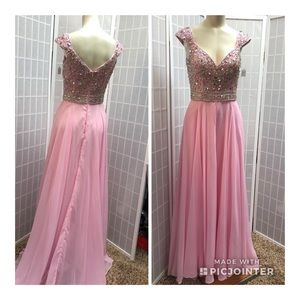 Panoply Woman's  Pink Rhinestone Cocktail Dress